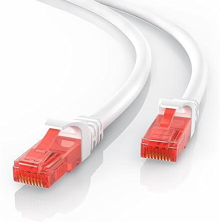 CSL - 10m CAT.6 Ethernet Câble Gigabit LAN Réseau | 2x fiches RJ45 | haute vitesse 10/100 / 1000 Mo/s | UTP | PC/Switch / Router/Modem / TV Box/Consoles de Jeux Vidéo | Blanc
