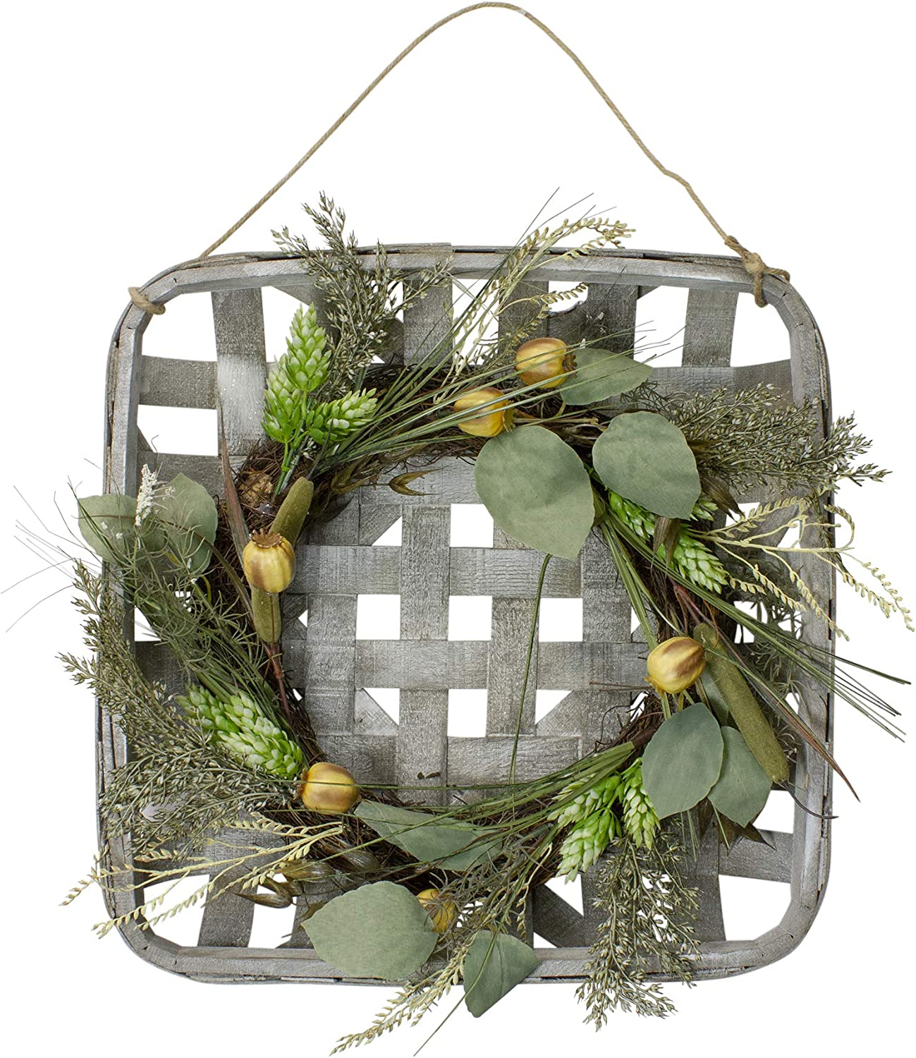 Northlight KJI28170 Wreath Direct Max 41% OFF store in Tray Hanger Green