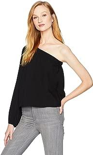 قميص نسائي Lucca Couture مطبوع عليه Zoe بكتف واحد