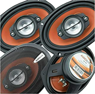 2 Pairs of Audiobank AB790 6x9 1000 Watt 4-Way Car Audio Stereo Coaxial Speakers - Injection Cone Woofer MidRange - Mylar ... photo