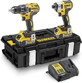 DeWalt DCK266P2-QW - XR kit with DCD796 cordless hammer drill, DCF887 impact driver, 2 Li-Ion 5, 0 Ah batteries and DS150 ...
