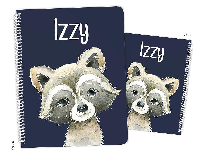 Store Personalized Raccoon Alternative dealer Spiral Notebook Sketchbook Bound