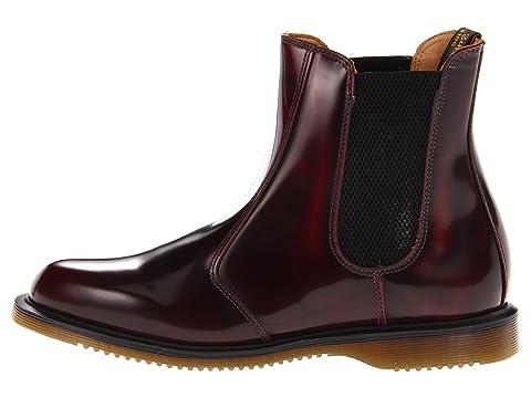 Chelsea Black Boot Flora Classic Martens Rub Off Polished Dr SmoothBurgundy FwZTqEx