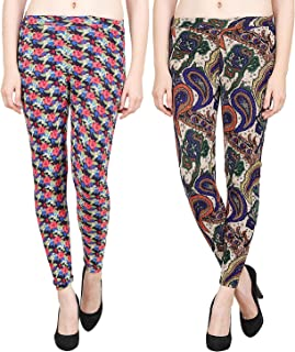 Aiyra Women's Floral Printed Legging (Pack of 2)