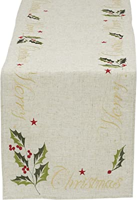 Design Imports Merry Christmas Embroidered Table Runner (29669)
