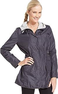 Calvin Klein Women's Convertible Hood Walker Coat, Charcoal, Small