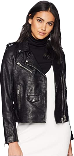 Genuine Leather Moto Jacket in Vice Lord