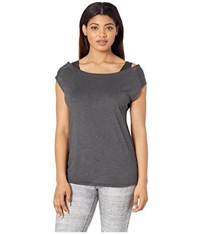 Columbia Place To Placetm Short Sleeve Shirt (Black Heather) Women