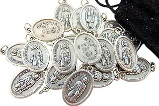 Bulk Medal Lot Set of 20 Metal Saint Pendant W Bag from Italy