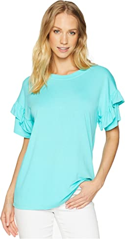 Tiered Ruffle Short Sleeve Top