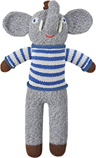Blabla Rivier The Elephant Mini Plush Doll - Knit Stuffed Animal for Kids. Cute, Cuddly & Soft Cotton Toy. Perfect, Forever Cherished. Eco-Friendly. Certified Safe & Non-Toxic.