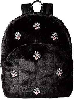 Bejeweled Fur Backpack
