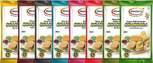 Maniarrs Khakhra Combo 8 Flavors In 8 Packs , 360 Grams