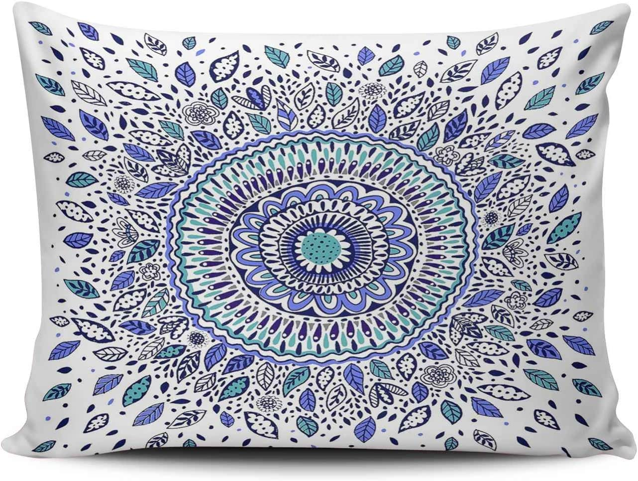 Hoooottle Custom Royal Modern Blue White and Max 81% OFF Flowered Man Indigo Elegant