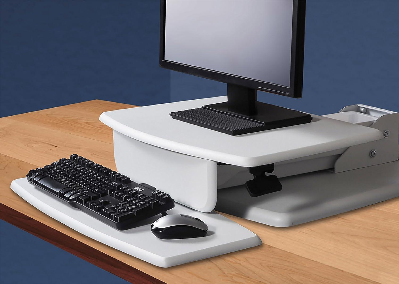 White STS810W Kantek Desktop Sit to Stand Workstation