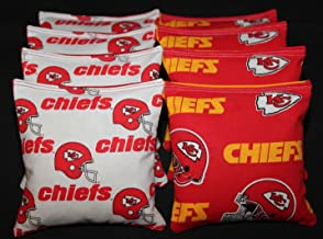 BackYardGamesUSA Cornhole Bean Bags w Kansas City Chiefs Fabric on Both Sides of Logo Bags New!!