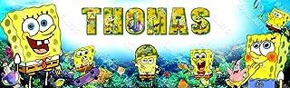 Personalized / Customized SpongeBob Squarepants Name Poster Wall Decor Door Birthday Art Banner