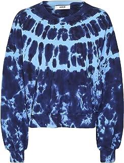 AGOLDE Women's Balloon Sleeve Tie-Dye Sweatshirt Blue