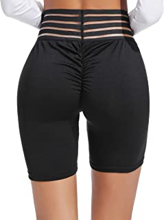 80632edefff06d INSTINNCT Pantaloncini Sportivi Donna Short Legging Collant Push Up l'Alto  Vita Alta Pantaloni Estivi
