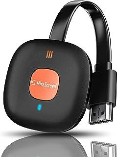 HDMIミラキャスト 無線 クロームキャスト iphone 2.4Gレシーバー 4K hdmi wifiディスプレイ モード切り替え不要 iOS&Android&Windows&MAC OS対応 HDMI 無線 ミラキャスト …