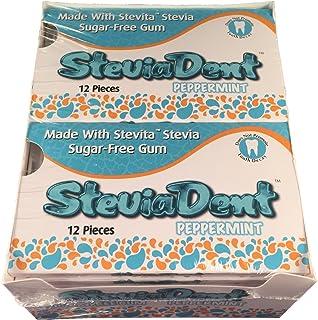 Stevita SteviaDent Peppermint Sugar Free Gum 2 cases of 12 packs each. (288 total pieces of gum)