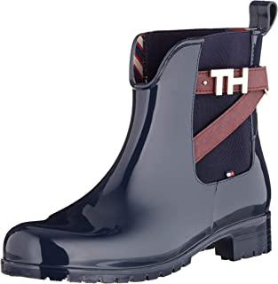 TOMMY HILFIGER TH Hardware Rubber Bootie Botas para Mujer