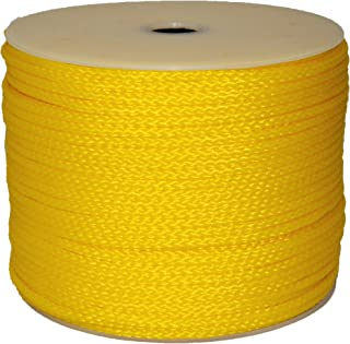 T.W Evans Cordage 27-301 1/4-Inch by 250-Feet Hollow Braid Polypro Rope, Yellow