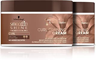 Smooth 'n Shine Curl Defining Cream for Curly Hair, 10.5 Ounce, 2 Count