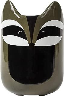 el & groove 3D racoon mug grey black, coffee cup 12oz, porcelain tea cup, decorative mug, gift idea for crazy cat lovers