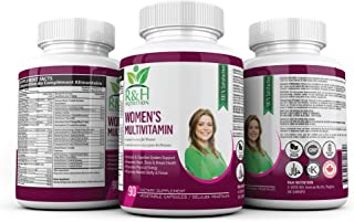Multivitamin for Women: Vegan, Non-GMO, Gluten Free & Halal. Combination of Essential Vitamins, Minerals, Herbs & Antioxidants. Boosts Energy, Immune & Digestive System. Heart, Bone & Breast Health.