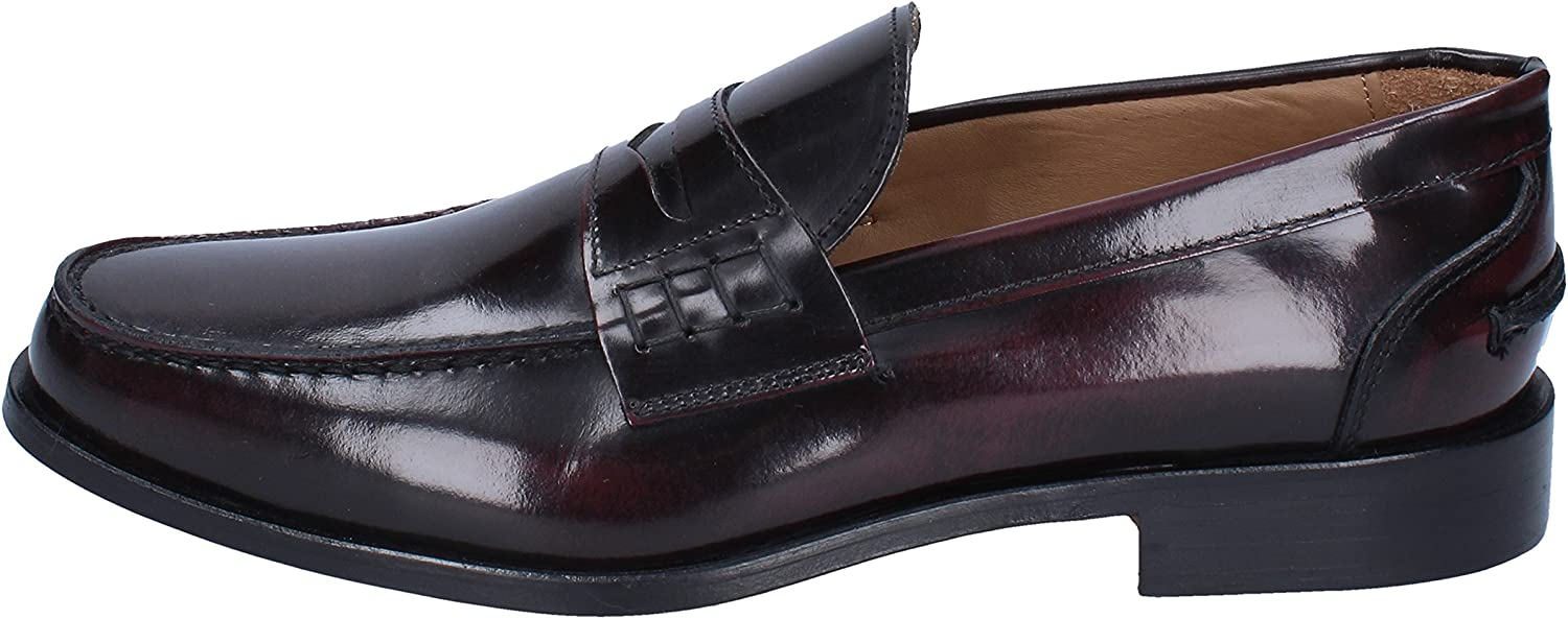 DI MELLA Loafers-shoes Mens Leather Purple