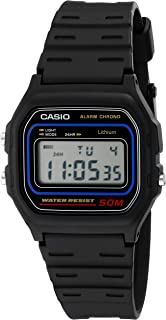 Casio Men's Grey Dial Rubber Band Watch - W-59-1Vhdf
