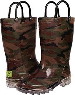 Western Chief Kids - Lighted PVC Camo (Toddler/Little Kid)