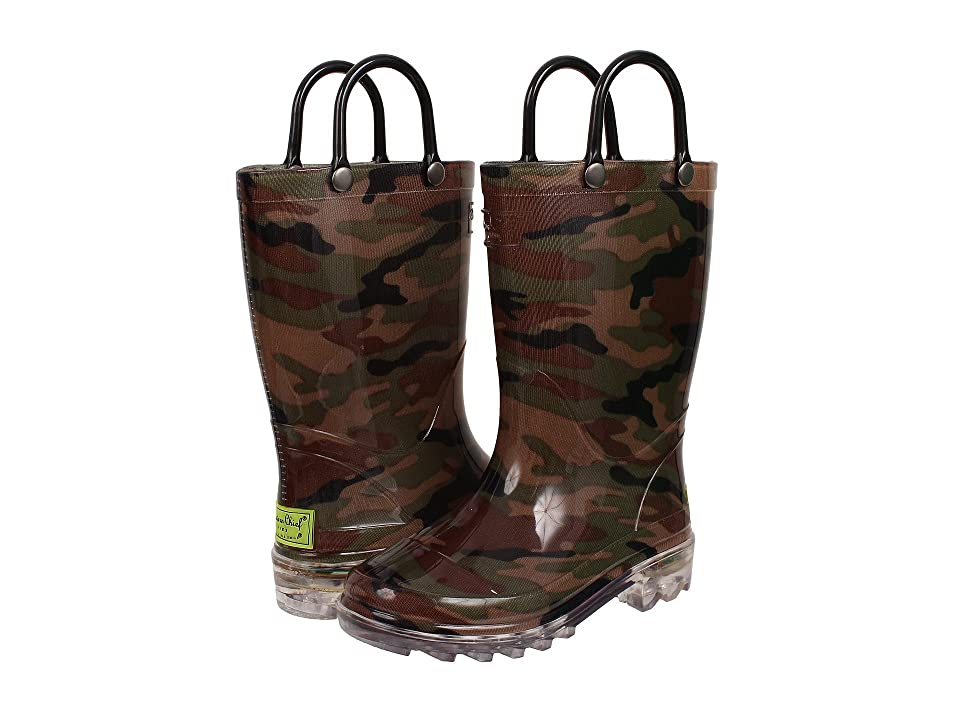 Western Chief Kids Lighted Rain Boots (Toddler/Little Kid) (Camo) Boys Shoes