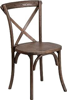 Flash Furniture HERCULES Series Stackable Early American Wood Cross Back Chair