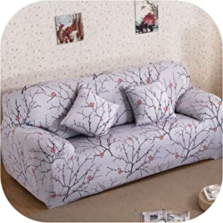 Spandex Sofa Cover Stretch Couch Sofa Cover Slipcovers Protector Single Loveseat Sectional Sofa Cover Christmas Decoration Gift,Color 21,2-Seater 145-185Cm,China