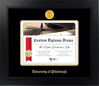Celebration Frames University of Pittsburgh 8½ x 11 Matte Black Finish Infinity Diploma Frame