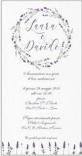 Partecipazioni matrimonio personalizzate - inviti nozze lavanda 10 pezzi