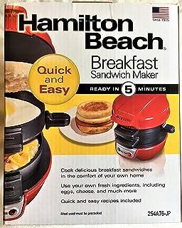 Breakfast Sandwich maker エッグマフィンメーカー HML01R 赤