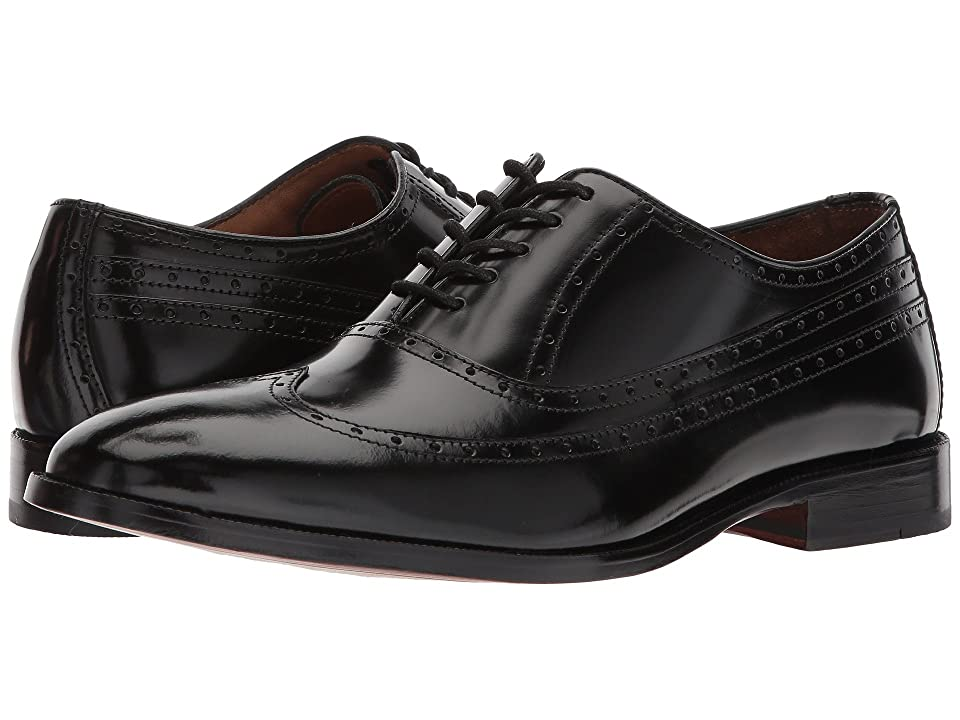 Johnston & Murphy Bradford Dress Wingtip Oxford (Black Calfskin) Men