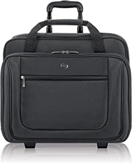 Solo New York Bryant Rolling Laptop Bag. Rolling Briefcase for Women and Men. Fits up to 17.3 inch laptop - Black
