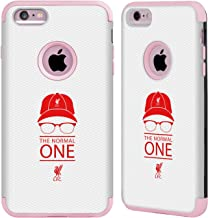 Head Case Designs Officially Licensed Liverpool Football Club Icon White Mesh Klopp Icons Light Pink Guardian Case Compatible with Apple iPhone 6 Plus/iPhone 6s Plus