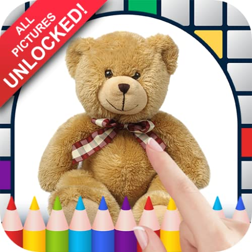 Teddy Bears Color by Number - No Ads Pixel Art Game - Coloring Book Pages - Happy, Creative & Relaxing - Paint & Crayon Palette - Zoom in & Tap to Color - Share Creations with Friends!