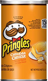 Pringles Potato Crisps Chips, Cheddar Cheese 2.5oz (12 Count)