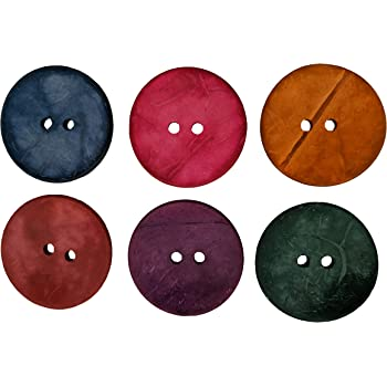 PBT80 Magenta, 10mm 50PCS Multi-Color Natural Shell Sewing on 2-Hole Buttons for Girl//Kids