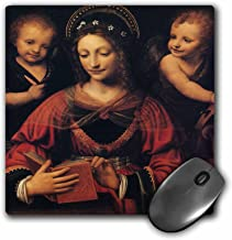 3dRose BLN Book and Reading Featured in Fine Art – St. Catherine, by Bernardino Luini – MousePad (mp_170990_1)