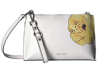 Calvin Klein Sonoma Floral Printed Crossbody (Floral Whte) Handbags