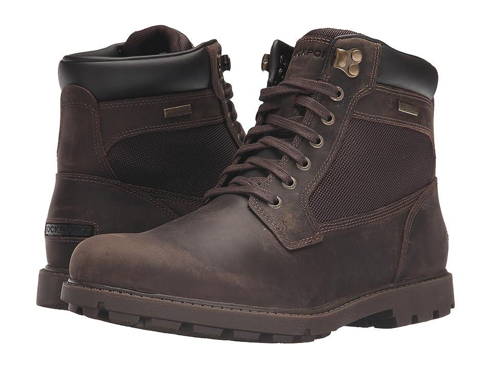 Rockport Rugged Bucks Waterproof High Boot (Dark Brown) Men