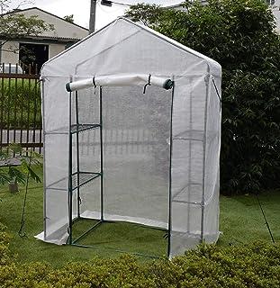 園芸用菜園ハウス 小 長さ73×幅143×高さ195cm 菜園ビニールハウス 温室ビニールハウス...