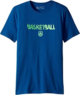 Under Armour Kids - Basketball Wordmark Short Sleeve Tee (Big Kids)